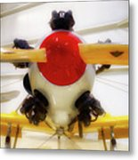 Airplane Wooden Propeller And Engine Pt 22 Recruit 02 Metal Print