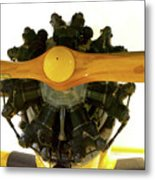 Airplane Wooden Propeller And Engine Timm N2t-1 Tutor Metal Print