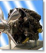 Airplanes Prop And Engine Metal Print