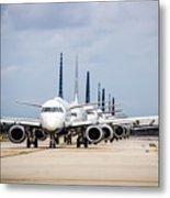 Airport Runway Stacked Up Metal Print