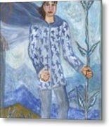 Airy King Of Wands Metal Print