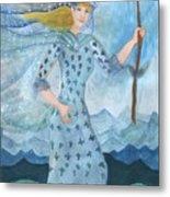 Airy Queen Of Wands Metal Print