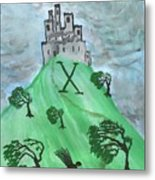 Airy Ten Of Wands Illustrated Metal Print