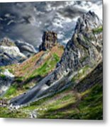 Aisa Valley Scenic Metal Print