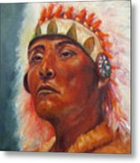 Akecheta, Native American Metal Print