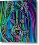 Akita Abstract Dog Metal Print