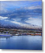 Akureyri Port Metal Print
