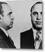 Al Capone 1899-1847, Prohibition Era Metal Print
