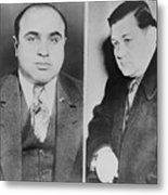 Al Capone Left And His Rival, George Metal Print by Everett