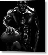 Al Fotball Black And White 1 Metal Print