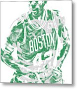 Al Horford Boston Celtics Pixel Art 6 Metal Print