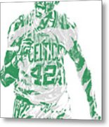 Al Horford Boston Celtics Pixel Art 7 Metal Print
