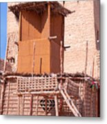 Al Manama Summer Bed And House With Cooling Tower Metal Print