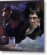 Al Pacino Snow Metal Print by Ylli Haruni
