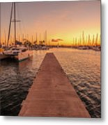 Ala Wai Harbor Sunset Metal Print