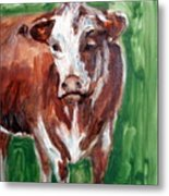 Alabama Cow Metal Print
