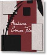 Alabama Crimson Tide Art Metal Print