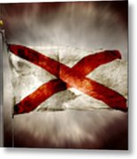 Alabama State Flag Metal Print by Steven Michael