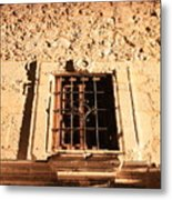 Alamo Night Window Metal Print