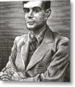 Alan Turing, British Mathematician Metal Print