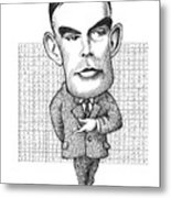 Alan Turing, British Mathematician Metal Print