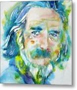 Alan Watts - Watercolor Portrait.4 Metal Print