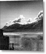 Alaska Black  Metal Print