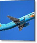 Alaska Boeing 737-490 N791as Tinker Bell Phoenix Sky Harbor January 12 2016 Metal Print
