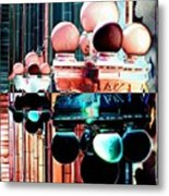 Alaska Building Lights Metal Print