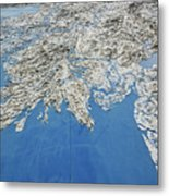 Alaska Map Wall Art Metal Print