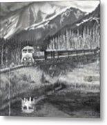 Alaska Railroad Near Whittier Metal Print