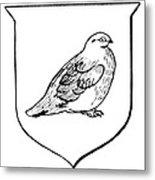Alaska: State Bird Metal Print