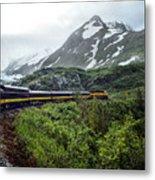 Alaska Train Metal Print