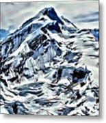 Alaska Volcano Metal Print