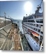 Alaskan Cruise Ship Berthed In Vancouver Metal Print