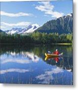 Alaskan Kayaker Metal Print