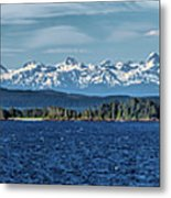 Alaskan Mountain Panorama Metal Print