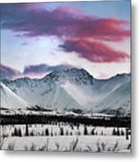 Alaskan Range At Sunset Metal Print