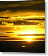 Alaskan Sunset Metal Print
