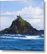 Alau Islet, Fisherman Metal Print