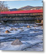 Albany Covered Bridge-white Mountains Of New Hampshire Metal Print