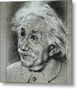 Albert Einstein Metal Print by Anastasis  Anastasi