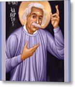 Albert Einstein  Scientist, Humanitarian, Mystic - Rlabe Metal Print
