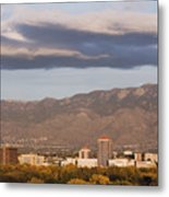 Albuquerque Skyline With The Sandia Mountains In The Background Metal Print by Jeremy Woodhouse