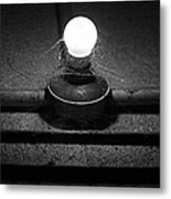 Alcatraz Bulb In Bw Metal Print