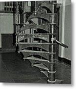 Alcatraz Stairs In Bw Metal Print