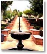 Alcazaba Fountain Metal Print