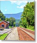 Alderson Train Depot And Tracks Alderson West Virginia Metal Print