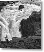 Aldeyjarfoss Waterfall Iceland 3381 Metal Print