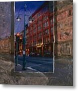 Ale House And Street Lamp Metal Print